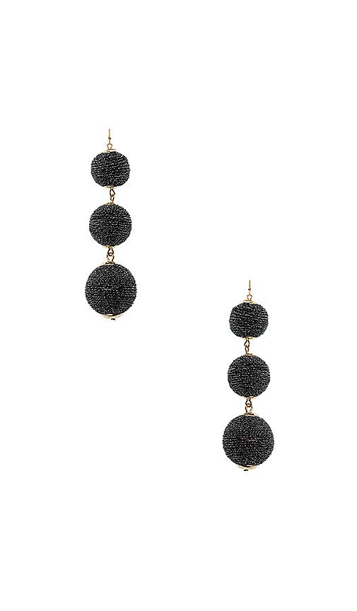 SHASHI Matilda Sparkle Earrings in Black