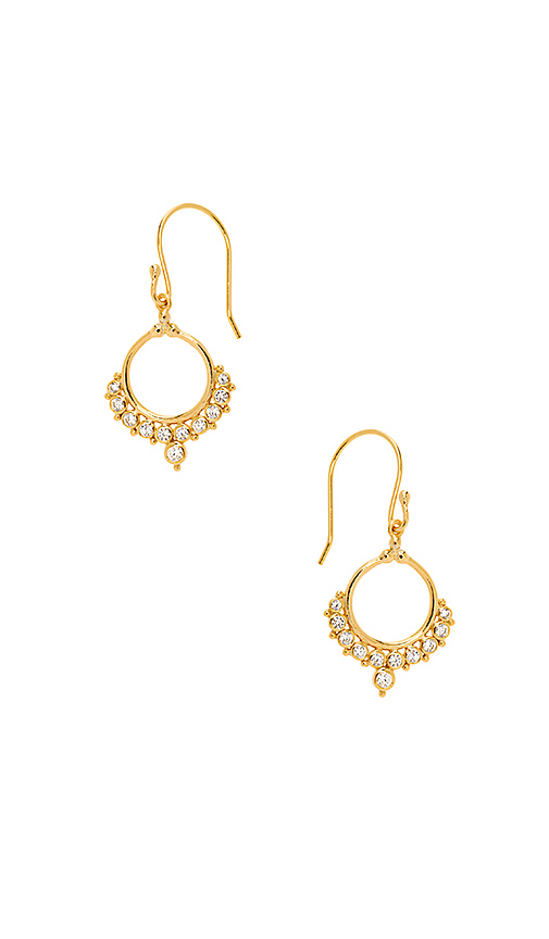 SHASHI Ballerino Hoop Earrings in Metallic Gold