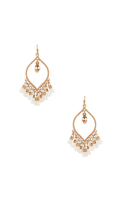 SHASHI Mira Tassel Earring in Metallic Gold
