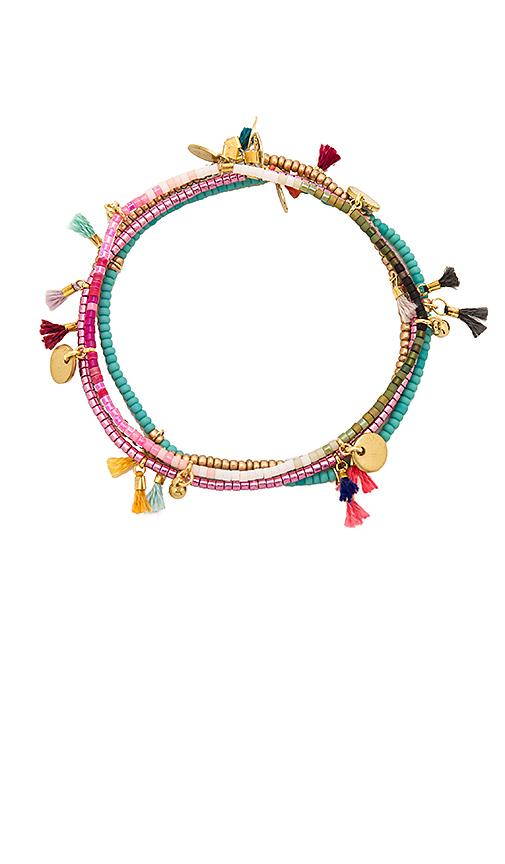 SHASHI Lilu Bracelet Set in Metallic Gold