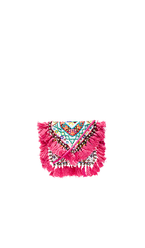 SHASHI Tatiana Clutch in Pink