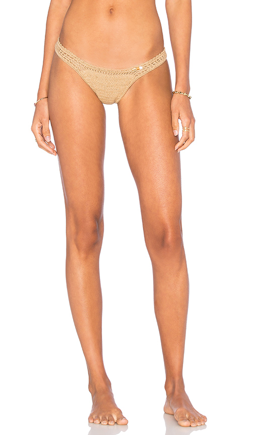 SHE MADE ME Cheeky Bikini Bottom in Tan. - size M/L (also in S/M)
