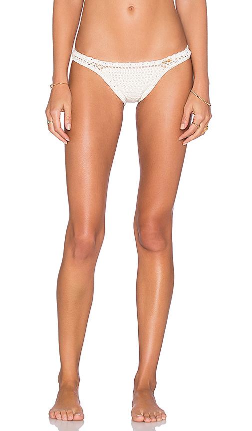 SHE MADE ME Cheeky Bikini Bottom in Beige