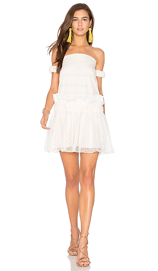 Shona Joy Moliere Off The Shoulder Mini Dress in White