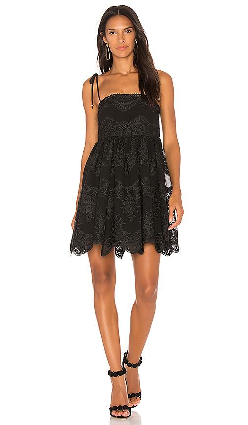 Shona Joy Antigua Baby Doll Mini Dress in Black