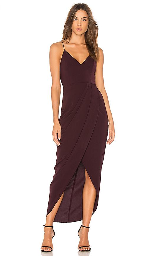 Shona Joy Cocktail Draped Dress in Purple. - size Aus 6/US 2 (also in Aus 10/US 6,Aus 12/US 8,Aus 8/US 4)