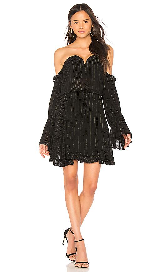 Shona Joy Dazed Bustier Mini Dress in Black