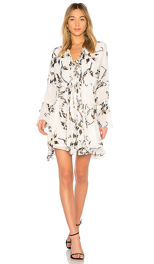 Shona Joy Apparition Frill Collar Mini Dress in White