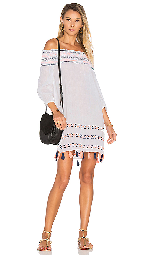 Shoshanna Off Shoulder Tunic in White