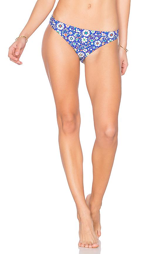 Shoshanna Mosaic Floral Bikini Bottom in Blue