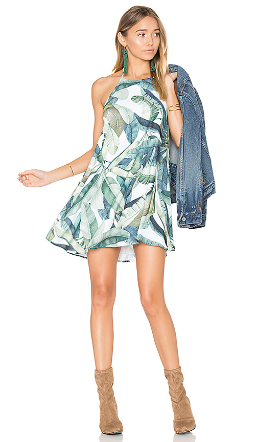 Show Me Your Mumu Katy Halter Dress in Green