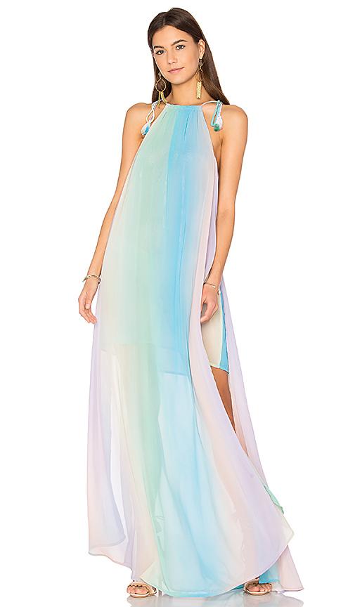 Show Me Your Mumu Rochester Maxi Dress in Blue