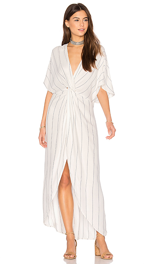 Show Me Your Mumu Get Twisted Maxi Dress in White