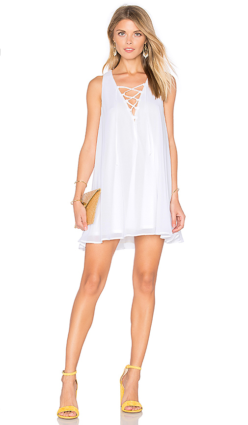 Show Me Your Mumu Rancho Mirage Lace Up Dress in White