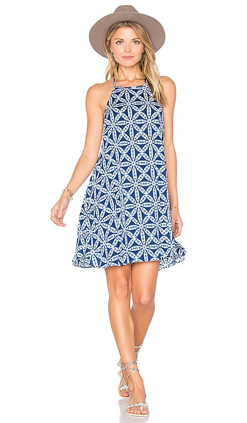 Show Me Your Mumu Katy Halter Dress in Blue