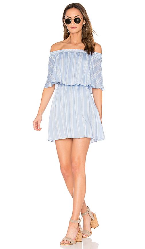 Show Me Your Mumu Casita Mini Dress in Blue. - size L (also in M,S,XS)
