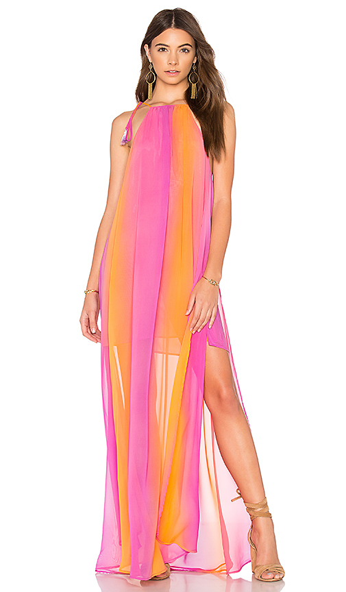 Show Me Your Mumu Rochester Maxi Dress in Pink