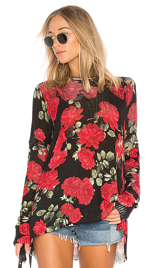Show Me Your Mumu Bonfire Sweater in Black. - size S (also in XS,L)