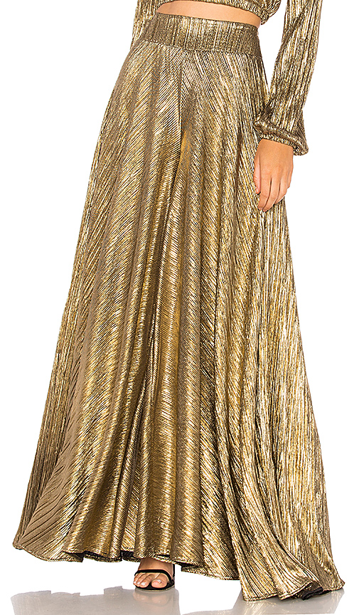 Show Me Your Mumu Dance Pant in Metallic Gold. - size L (also in M,S,XS)