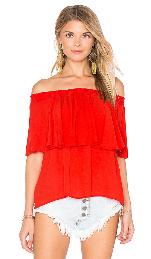 Show Me Your Mumu Bungalow Top in Red. - size S (also in XS)