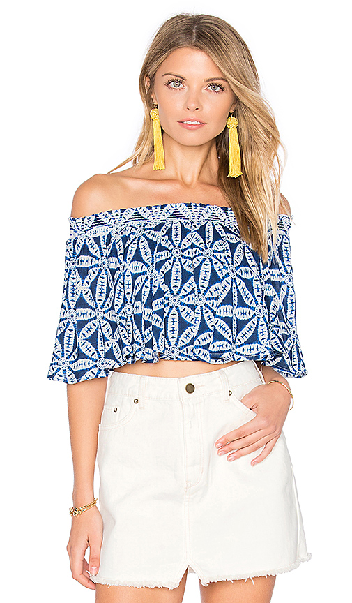 Show Me Your Mumu Sasha Swing Top in Blue. - size L (also in M,S,XS)