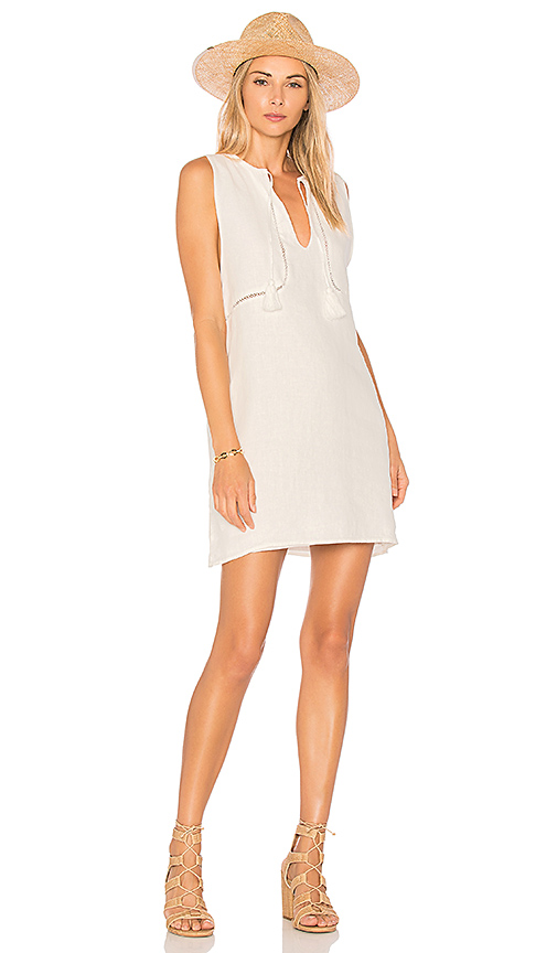 Sincerely Jules Linen Tank Dress in White