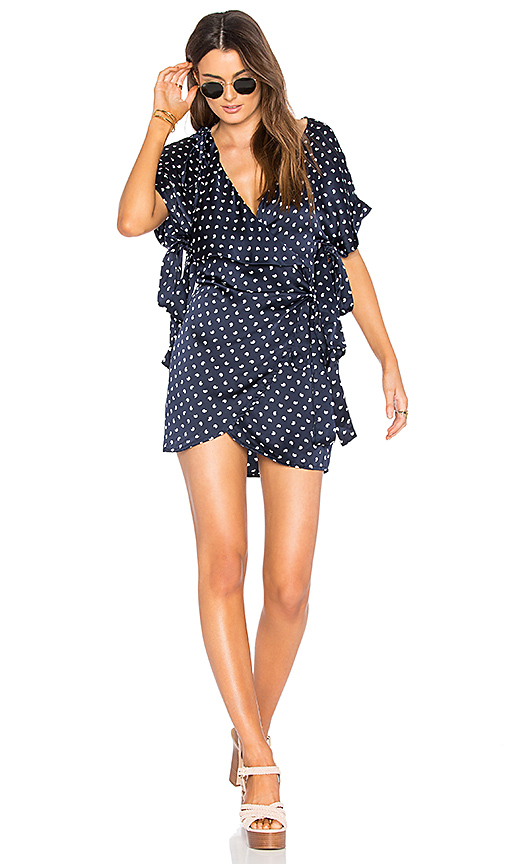 SIR the label Bobbie Wrap Dress in Navy. - size 0 / XS (also in 1 / S)