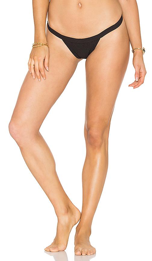 SKYE & staghorn Siren Bikini Bottom in Black