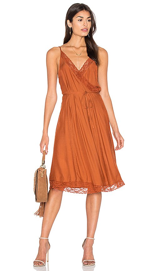 Somedays Lovin Canyon Wrap Dress in Brick. - size L (also in M)