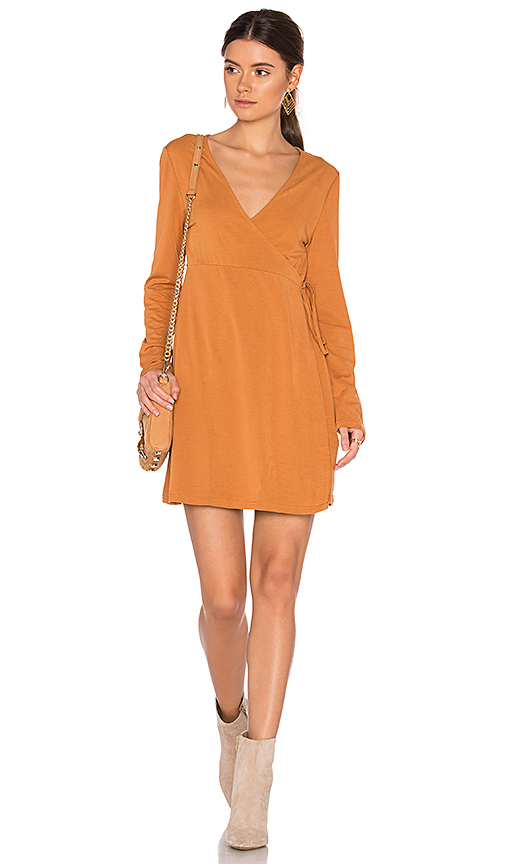 Somedays Lovin We Were Young Wrap Dress in Orange. - size L (also in M,XS)