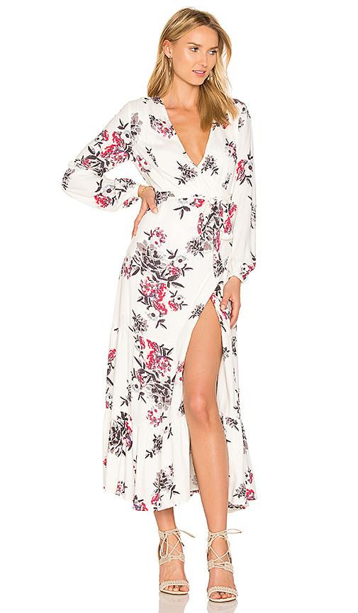 Somedays Lovin Mary May Midi Wrap Dress in White. - size M (also in S)