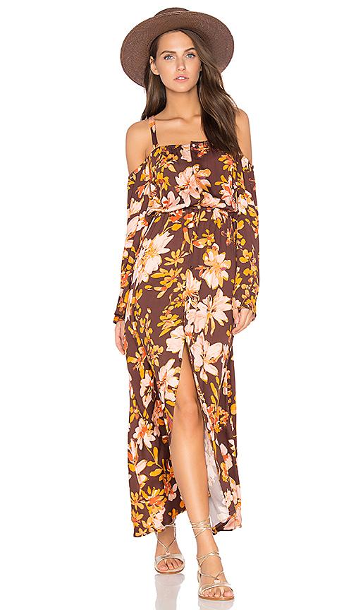 Somedays Lovin She's a Wildflower Dress in Brown