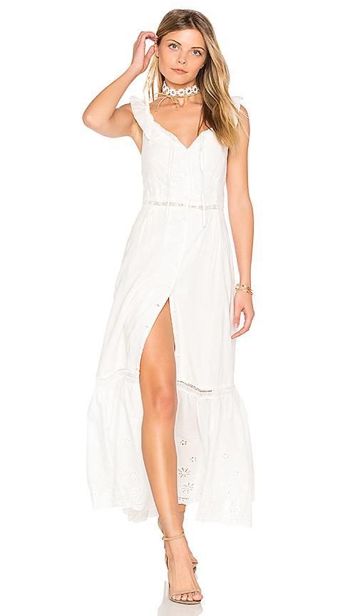 Somedays Lovin Sky Might Fall Midi Dress in White
