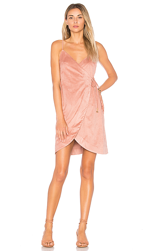 Somedays Lovin Dance at Dusk Wrap Dress in Pink. - size L (also in M,S,XS)