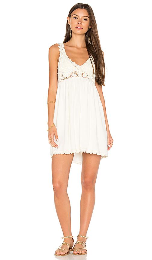 Somedays Lovin Sweet Sounds Crochet Dress in Ivory