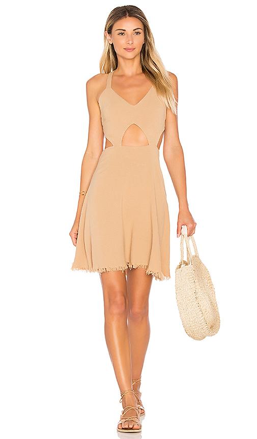 Somedays Lovin Take Me Here Dress in Beige