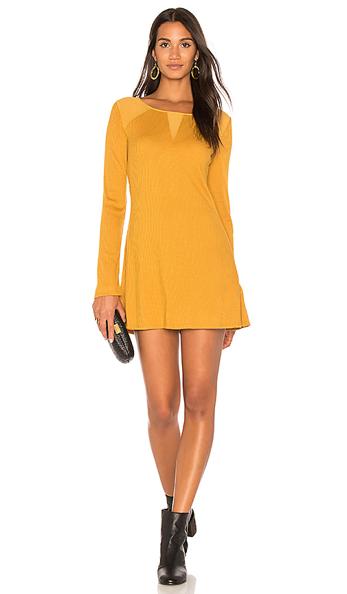 Somedays Lovin Ultimates Ribbed Tunic in Mustard. - size L (also in M,S,XS)