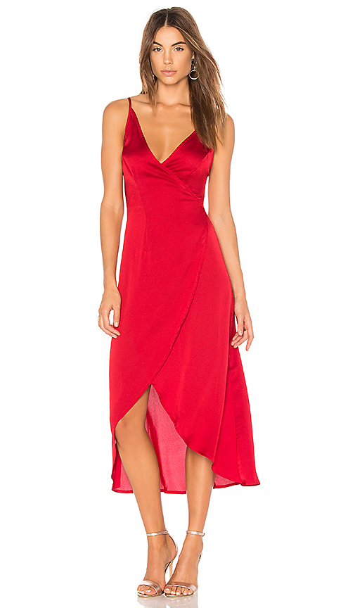 Somedays Lovin Evening Sun Wrap Dress in Red. - size S (also in L,M,XS)