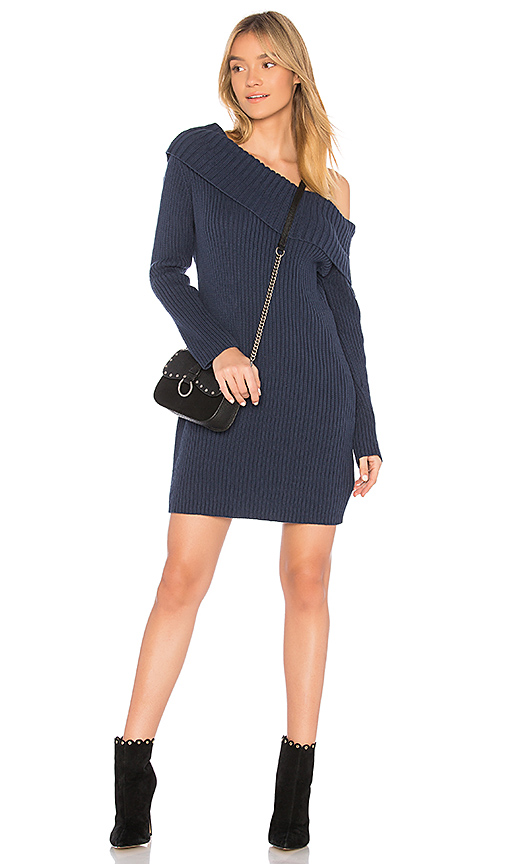 Somedays Lovin Like a Melody Sweater Dress in Navy