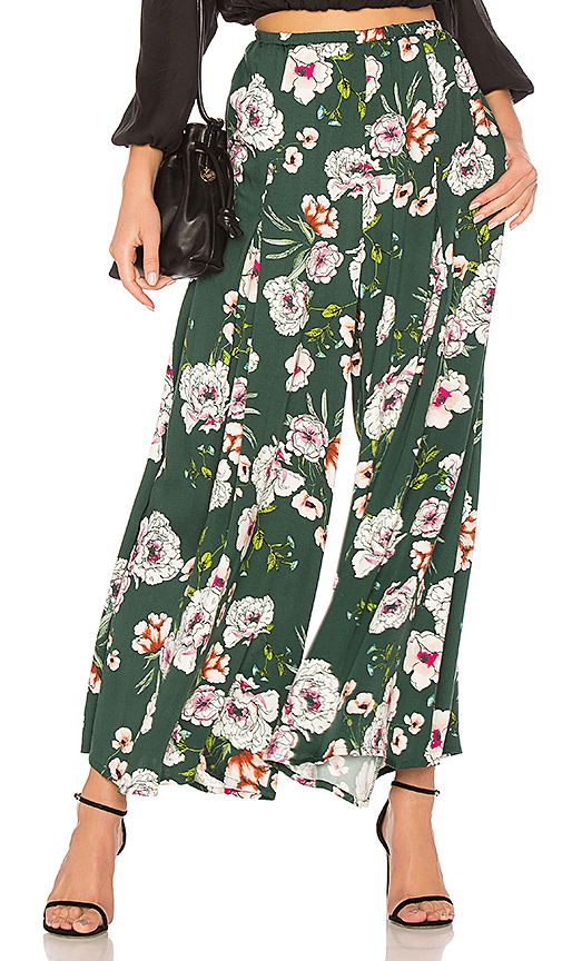 Somedays Lovin Burning Desire Wide Leg Pant in Green. - size L (also in M,S,XS)