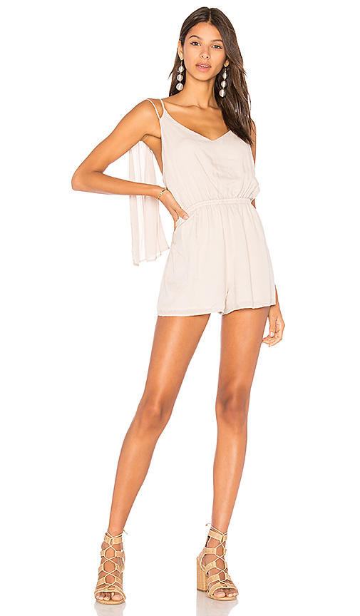 Somedays Lovin Among the Roses Playsuit in Light Gray. - size L (also in M,S,XS)