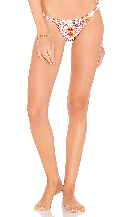 Somedays Lovin Sun Drenched Strappy Bikini Bottom in White