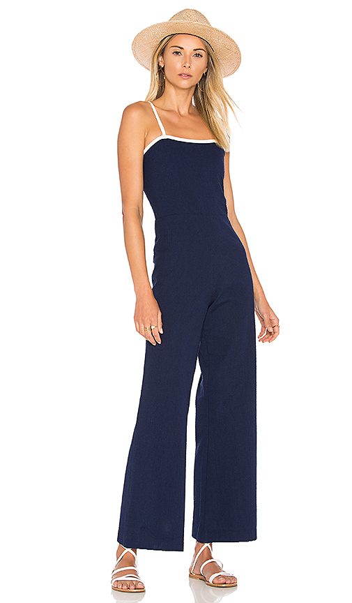 Solid & Striped x STAUD The Breeze Jumpsuit in Navy