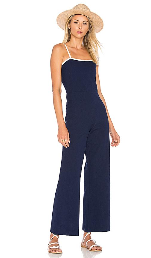 Photo of Solid & Striped x STAUD The Breeze Jumpsuit in Navy - shop Marysia Swim swimwear and bikinis sales