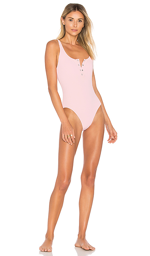 Solid & Striped Solid & STAUD The Veronica One Piece in Pink