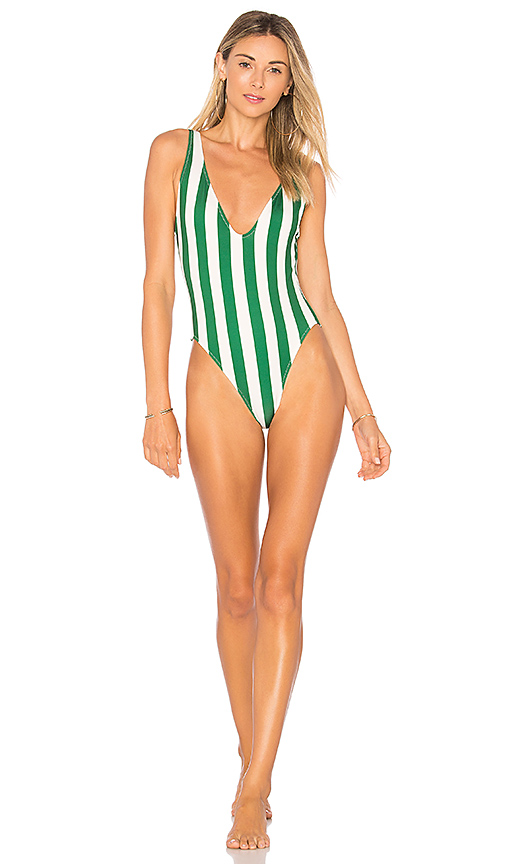 Solid & Striped The Michelle One Piece in Green