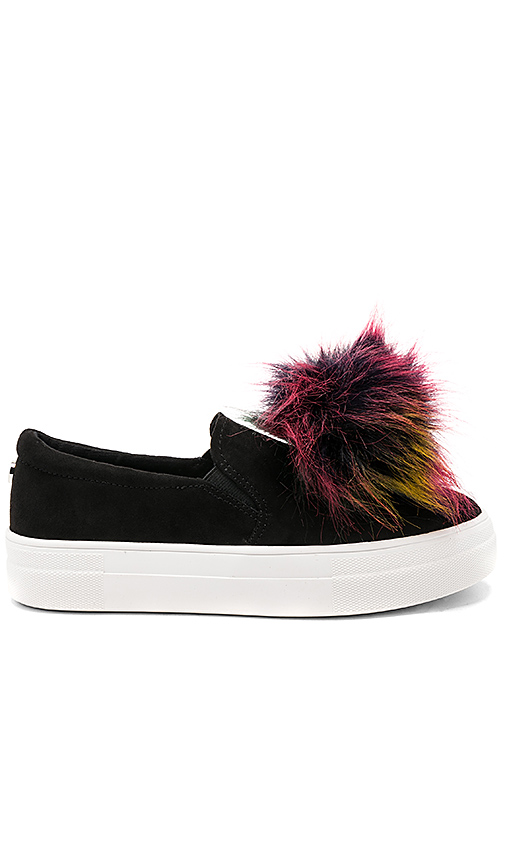 Photo of Steve Madden Great Faux Fur Sneaker in Black - shop Steve Madden shoes sales