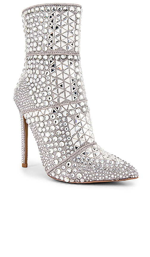 Steve Madden Whole Bootie in Metallic Silver