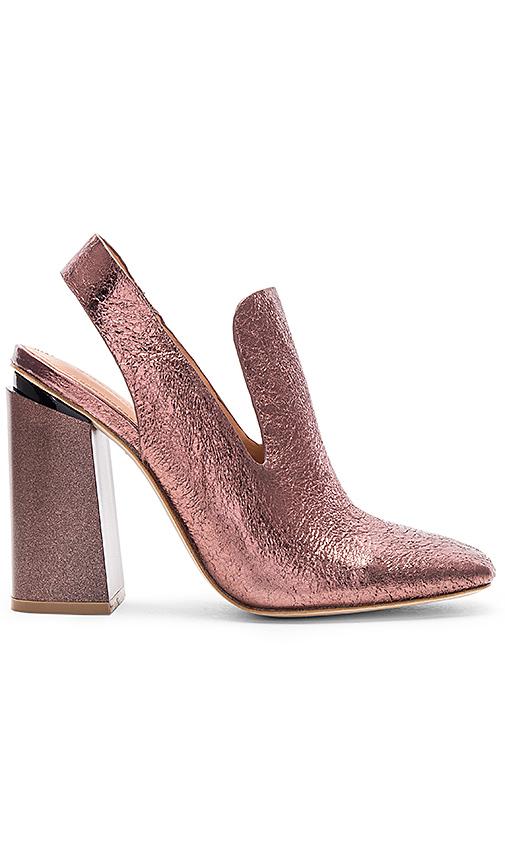 Sigerson Morrison Janet Heel in Metallic Copper