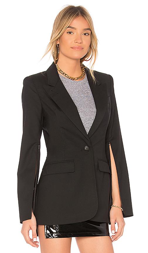 Smythe Zip Sleeve Blazer in Black